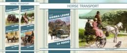 Z08 SRL181112ab SIERRA LEONE 2018 Horse Transport MNH ** Postfrisch Set - Sierra Leone (1961-...)