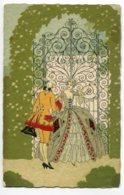 ILLUSTRATEUR 0088 Couple XVIII  Grille Chateau No 2446 Edit A Guarneri Milano - Illustrators & Photographers