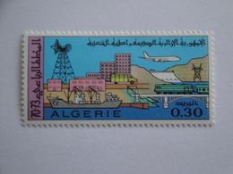 1970 Algérie Yv  507 ** MNH Transport Bateaux Train Avion Cote 1.00 € Michel 541  Scott 432  SG 550 - Algérie (1962-...)