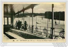 68.LE DONON.TERRASSE DE L'HOTEL VELLEDA EN HIVER - France