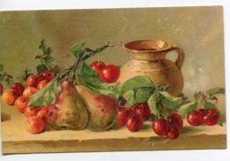 ILLUSTRATEUR 0097 Catharina KLEIN  No 1175 G.O.M   Nature Morte Fruits Poires Cerises   écrite En 1911 - Klein, Catharina