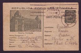 1953 Romania, Stationery Postcard From Km 31 / Colonia Forced Labour Camp, Formatiunea 0992 Censorship - Briefe U. Dokumente