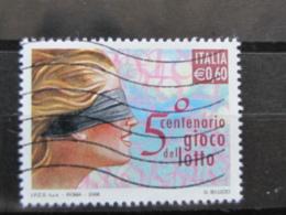 *ITALIA* USATI 2006 - 50° GIOCO DEL LOTTO - SASSONE 2932 - LUSSO/FIOR DI STAMPA - 6. 1946-.. Repubblica