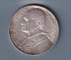 VATICANO VATIKAN VATICANO 1934 PIOXI 5 LIRE ARGENTO - Vaticano