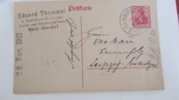 DR: GA Postkarte Mit 40 Pf Germania Mit Bahnpost-Stpl. Füssen Nach Leipzig 28.11.21 Knr:  P121A Abs: E. Thommel Oberdorf - Briefe U. Dokumente