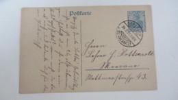 DR: GA Postkarte Mit 30 Pf Germania Stpl. GERSDORF (BZ. CHEMNITZ) Vom 24.2.21 Knr:  P 120 AI - Briefe U. Dokumente