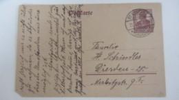 DR: GA Postkarte Mit 15 Pf Germania Stpl. BERNSTADT (SACHSEN) Vom 21.4.20 Knr:  P 116I - Deutschland