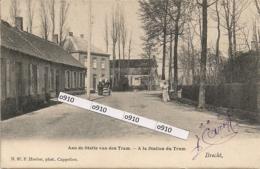 """BRECHT """"AAN DE STATIE VAN DEN TRAM-A LA STATION DU TRAM"""" HOELEN NR 97 TYPE 3 -21.05.1904 - Brecht"""