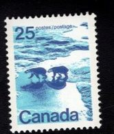 710915708 CANADAPOSTFRIS MINT NEVER HINGED POSTFRISCH EINWANDFREI  SCOTT 597 POLAR BEARS - 1952-.... Règne D'Elizabeth II