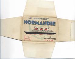 """Paquebot"""" NORMANDIE"""" - Sachet De 12 Petites Vues - Paquebots"""