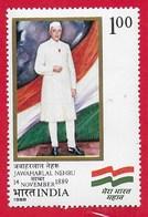 INDIA MNH - 1988 100th Anniversary (1989) Of The Birth Of Jawaharlal Nehru - 1 ₹ - Michel IN 1190 - India
