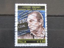 *ITALIA* USATI 2006 - CENT LUCHINO VISCONTI - SASSONE 2933 - LUSSO/FIOR DI STAMPA - 6. 1946-.. Repubblica