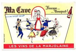 Buvard Les Vins Se La Marjolaine Ma Cave Bernard Gallat Yvetot Danse - Liqueur & Bière