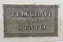 ETICHETTA DENTELLATA TELEGRAFI DELLO STATO - Francobolli