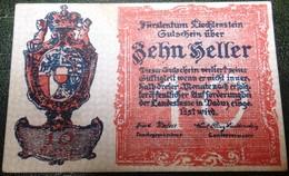 Liechtenstein 10 Heller 1920 AUNC - Liechtenstein
