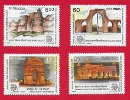 INDIA MNH - 1987 India '89 International Stamp Exhibition New Delhi - Vari ₹ - Michel IN 1116 - 1119 - India