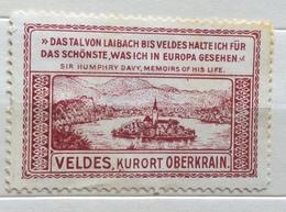 SLOVENIA  VELDES KURORT OBERKRAIN   ERINNOFILO CHIUDILETTERA ETICHETTA PUBBLICITARIA - Francobolli