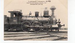 LES LOCOMOTIVES  (Allemagne)  Machine N°2674 2/3 Gekuppelte Lokomotive. - Trains