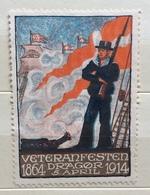 VETERAN FESTEN DRAGOR 1864  1914   ERINNOFILO CHIUDILETTERA ETICHETTA PUBBLICITARIA - Francobolli