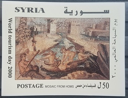 DE22 - Syria 2000 Mini Sheet MNH - Mosaic From Homs - World Tourism Day - Syria