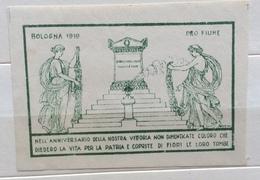 BOLOGNA 1919   Nell'anniversario Della Vittoria Non Dimenticate....  ERINNOFILO CHIUDILETTERA ETICHETTA PUBBLICITARIA - Francobolli