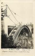 Haute Savoie -ref-C314- Allonzier - Cruseilles - Carte Photo Pont De La Caille - Cie Lyonnaise De Travaux D Art - - France