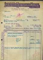 265 BASSANO DEL GRAPPA 1948 , SMALTERIA E METALLURGICA  VENETA , FATTURA - Italy