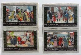 ALTONA 1914  CARTENBAU AUSSTELLUNG    ERINNOFILO CHIUDILETTERA ETICHETTA PUBBLICITARIA - Francobolli