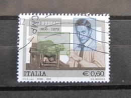 *ITALIA* USATI 2006 - CENT DINO BUZZATI - SASSONE 2934 - LUSSO/FIOR DI STAMPA - 6. 1946-.. Repubblica
