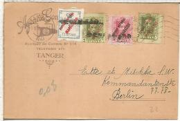 SPAIN TANGER MARRUECOS MOROCCO OVERPRINT ALFONSO XIII VAQUER MAILED CARD TO BERLIN - 1889-1931 Reino: Alfonso XIII