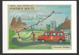 Postcard: Gravesend-Betsham, Royal Mail Postbus Route SE England, Art By Richard Blake, 1995 - Peintures & Tableaux