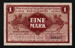 GEFANGENENLAGER GELD LAGERGELD BILLET CAMP QUEDLINBURG PRISONNIER ALLEMAGNE KG POW GUERRE 1914 1918 - [10] Emissions Militaires