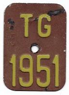 Velonummer Thurgau TG 51 - Plaques D'immatriculation