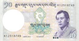 Bhutan - Pick 29b - 10 Ngultrum 2013 - Unc - Bhutan