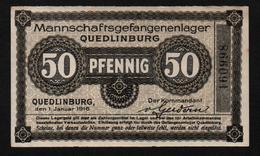 GEFANGENENLAGER GELD LAGERGELD BILLET CAMP QUEDLINBURG PRISONNIER ALLEMAGNE KG POW GUERRE 1914 1918 - Autres
