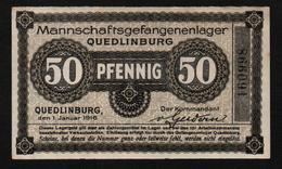 GEFANGENENLAGER GELD LAGERGELD BILLET CAMP QUEDLINBURG PRISONNIER ALLEMAGNE KG POW GUERRE 1914 1918 - Altri