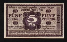 GEFANGENENLAGER GELD LAGERGELD BILLET CAMP QUEDLINBURG PRISONNIER ALLEMAGNE KG POW GUERRE 1914 1918 - Andere