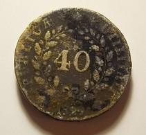 Portugal 40 Reis 1829 Varnished - Portugal