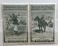 JOURNAL DES VOYAGES TRUPPE COLONIALI IN SENEGAL E  IN SUDAN  CENT. 15 CADAUNO - Francobolli