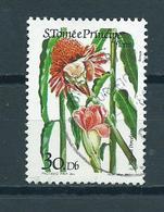 1985 Sao Tome En Principe Flowers Used/gebruikt/oblitere - Sao Tome En Principe