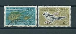 1963 New Hebrides Fish,birds,oiseaux,vögel,poisson Used/gebruikt/oblitere - Gebruikt