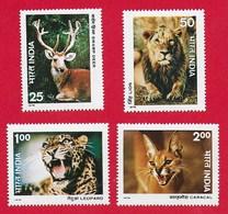 INDIA MNH - 1976 Indian Wildlife - Vari P - Michel IN 691 - 694 - India