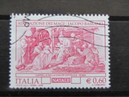 *ITALIA* USATI 2006 - NATALE ADORAZIONE DEI MAGI - SASSONE 2935 - LUSSO/FIOR DI STAMPA - 6. 1946-.. Repubblica