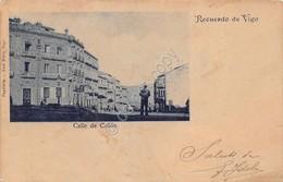 Cartolina Vigo Espana Calle De Colon Animata - Cartoline