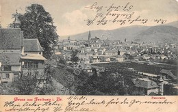 Cartolina Freiburg Gruss Aus Panorama 1901 - Cartoline