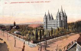 Cartolina Utah Salt Lake City Mormon Temple Park - Cartoline