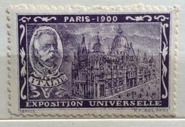 PARIS 1900 ESPOSIZIONE UNIVERSALE  PADIGLIONE ITALIA UMBERTO I   ERINNOFILO CHIUDILETTERA ETICHETTA PUBBLICITARIA - Francobolli