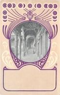 Cartolina Illustrata Cornice Con Portico E Scala Art Deco' - Cartoline