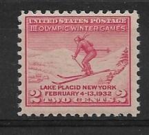 UNITED STATES 1932 Olympic Games Lake Placid - Winter 1932: Lake Placid