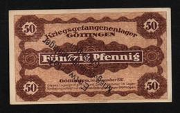 GEFANGENENLAGER GELD LAGERGELD BILLET CAMP GOTTINGEN PRISONNIER ALLEMAGNE KG POW GUERRE 1914 1918 - [10] Emissions Militaires